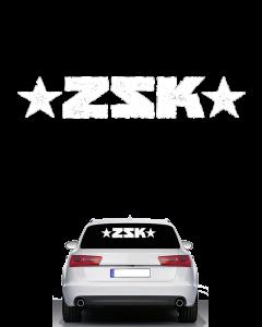 ZSK 'Logo' Heckscheibenaufkleber