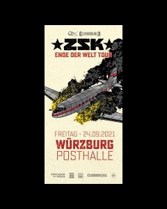 ZSK Eintrittskarte '24.09.21' Würzburg