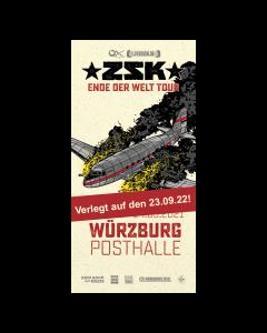 ZSK Eintrittskarte '23.09.22' Würzburg