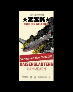 ZSK Eintrittskarte '05.03.22' Kaiserslautern