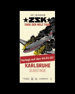 ZSK Eintrittskarte '04.03.22' Karlsruhe