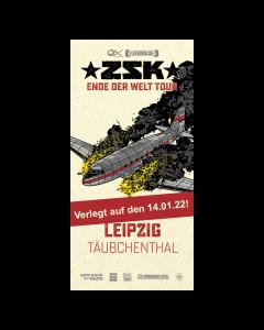 ZSK Eintrittskarte '14.01.22' Leipzig