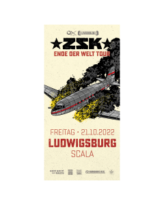 ZSK Eintrittskarte '21.10.22' Ludwigsburg