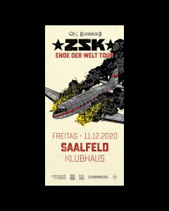 ZSK Eintrittskarte '11.12.20' Saalfeld
