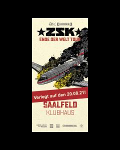ZSK Eintrittskarte '20.08.2021' Saalfeld