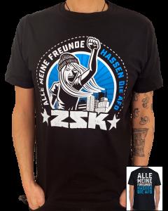 ZSK 'Alle meine Freunde' T-Shirt Blau