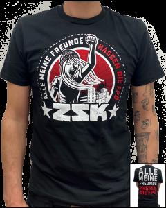 ZSK 'Alle meine Freunde hassen die FPÖ' T-Shirt Rot