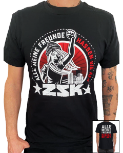 ZSK 'Alle meine Freunde' T-Shirt Rot