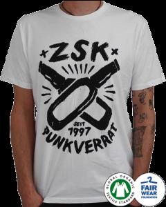 ZSK 'Punkverrat' white T-Shirt